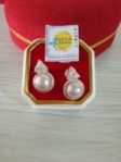 Silver Pearl Ear Stud ( Soft Purple)