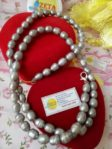Full Freshwater Pearl Necklace (Silver Color)
