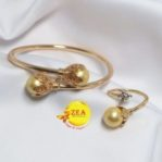 Shell Pearl Bracelet and Ring